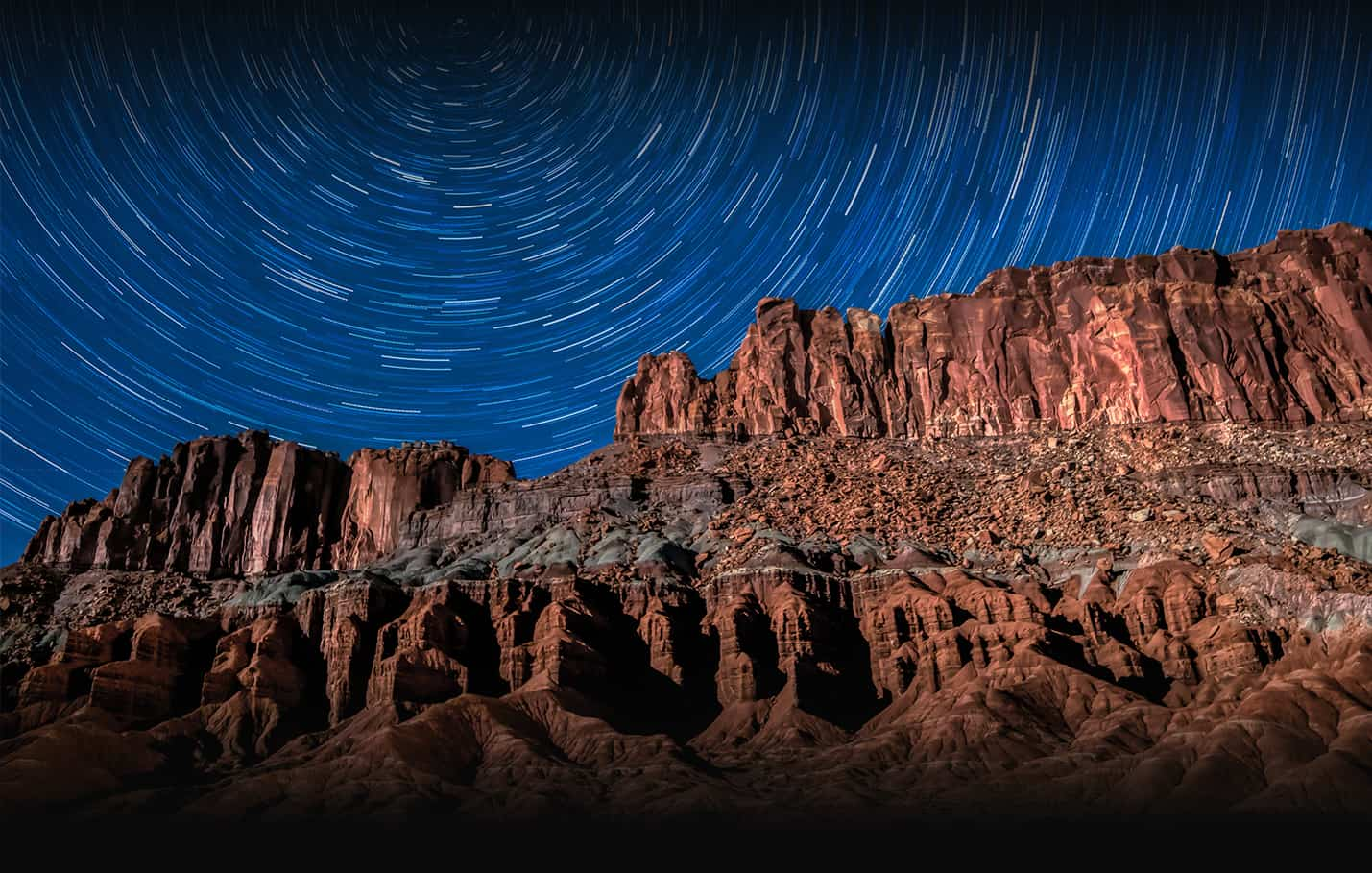 11:30 PM, Capitol Reef National Park, Chimney Rock and Star Circles